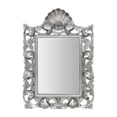 Weaver Ornate Detail Wall Mirror in Silver