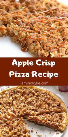 Apple Dessert Recipes, Apple Crisp Recipes, Fruit Recipes, Easy Desserts, Sweet Recipes, Delicious Desserts, Cooking Recipes, Desert Pizza Recipes, Gooey Apple Crisp Recipe
