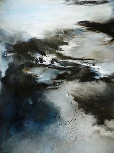 Hommage À Zao Wou Ki 2 by Marie Armi, Painting, Oil Landscape Art, Landscape Paintings, Chinese Landscape, Abstract Expressionism, Abstract Art, Art Aquarelle, Art Abstrait, Chinese Painting, Chinese Art