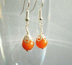 Red Aventurine Earrings, Healing Gemstone Jewelry,