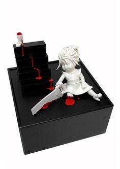 Geek Art Gallery Sculpture Macabre Porcelain Figures Muse Bait - Amazingly disturbing porcelain figurines by maria rubinke