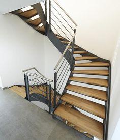 Treppe von Fuchs-Treppen, Stahlholztreppen, Flachstahlwangentreppen