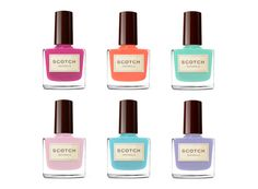 Scotch Naturals- I love the colors and type on these water based nail polishes.