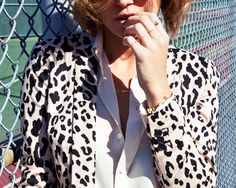 Snow Leopard Jacket. A touch of glamour