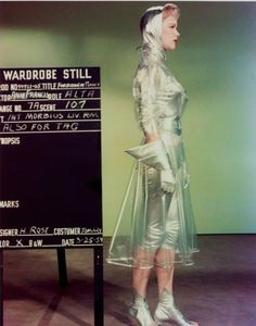 Anne Francis costume test for 'Forbidden Planet', 1954.