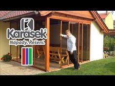 Karásek - Zasklení dřevěné pergoly Combi a kouřové sklo - YouTube Chata, Pergola, Youtube, Outdoor Pergola, Youtubers, Youtube Movies