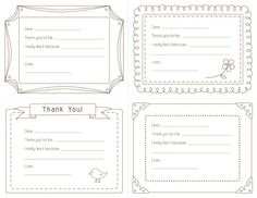 Free Thank You Writing Printables Color With Dots Or Stripes