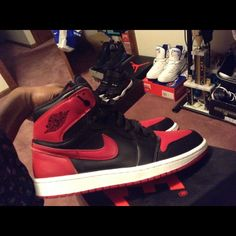 timeless design 2d352 b7523 Nike Shoes   Air Jordan Retro 1 (13 Bred)   Color  Red   Size  11