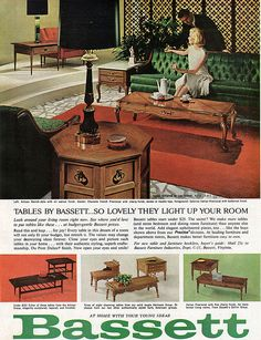 Bassett Artisan Group plus mixed provincial table lines (1964)