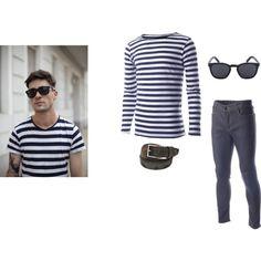 """striped t shirt outfits #29""  #FLATSEVENSHOP.COM #men #fashion #christmas #mens fashion #menswear  #denim #clothes"