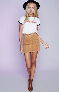5a5b0d985d Word on the street says the Afends Chevy Skirt Tan Cord is one to watch!