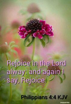 Philippians 4:4 KJV