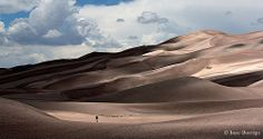 Walking Through the Desert - Great Sand Dunes, Colorado