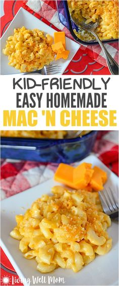 Kid-Friendly Easy Homemade Mac and Cheese Recipe Kid-Friendly Homemade Mac and Cheese – This favorite recipe is easy to make and a tasty alternative to processed boxed mac 'n cheese that even picky kids love. Boxed Mac And Cheese, Easy Mac And Cheese, Mac And Cheese Homemade, Macaroni And Cheese Recipe For Kids, Best Mac N Cheese Recipe, Cheese Recipes, Baby Food Recipes, Healthy Recipes, Mac Recipe
