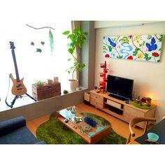 楽器/テレビボード/照明/賃貸/IKEA/観葉植物…などのインテリア実例 - 2014-12-06 08:00:03 | RoomClip(ルームクリップ)