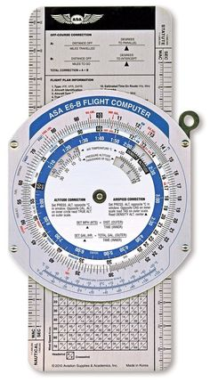 ASA Color Aluminum Flight Computer by ASA - High quality aluminum manual flight planning computer. Vinyl case and instruction booklet included. - calculator ASA - Pilot Supplies at a Pilot Shop Aviation Training, Pilot Training, Aviation Fuel, Private Pilot License, Ground School, Cool Slides, Slide Rule, Old Computers, Courses