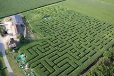 """The Hermits """"Labyrinth"""" Corn maze.   """"Taken refuge in the middle of a corn labyrinth, a last hermit still resists the modern world.  Sometimes, some courageous visitors penetrate his territory and come to its meeting.  Those which show spirit are authorized to join civilization.  The others will be lost forever !!!...""""  In the middle of the river, 10 minutes from the Sarlat-Dordogne..."""