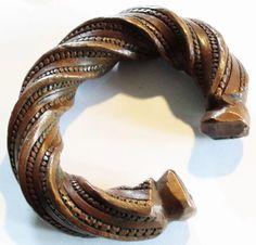 African bronze bracelet.