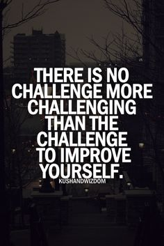 Quote - 'There is no challenge more challenging than the challenge to improve yourself.'