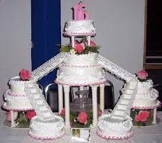 Resultado de imagen para torta de 15 años con escaleras