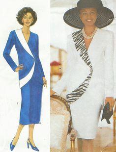 90s Diahann Carroll Womens Below Hip Jacket and Skirt Butterick Sewing Pattern 6003 Size 14 16 18 Bust 36 38 40 UnCut Designer Sewing