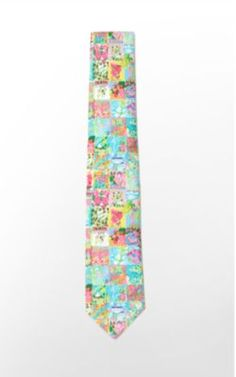Lilly tie for your boyfriend when he shows up underdressed....looks great with his bermuda shorts!