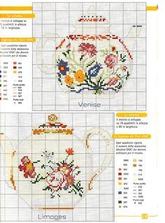 "Photo from album ""Кухня"" on Yandex. Cross Stitch Borders, Cross Stitch Flowers, Cross Stitch Designs, Cross Stitching, Cross Stitch Embroidery, Cross Stitch Patterns, Christmas Embroidery Patterns, Cross Stitch Kitchen, Crochet Cross"