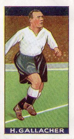 Hugh Gallacher of Derby County in Derby County, 1930s, Football, Baseball Cards, Sports, Style, Trading Cards, Soccer, Hs Sports