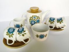 1960s Retro J Meakin Studio Tea Set  by:-lavenderrosecottage