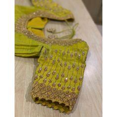 Pattu Saree Blouse Designs, Blouse Designs Silk, Designer Blouse Patterns, Bridal Blouse Designs, Zardosi Work Blouse, Hand Work Blouse Design, Simple Blouse Designs, Stylish Blouse Design, Fancy Dress Design