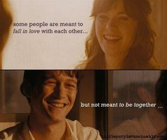 Alcune persone sono destinate ad innamorarsi l'uno dell'altra.. ma non sono destinate a stare insieme.