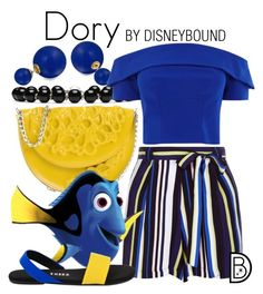 """Dory"" by leslieakay ❤ liked on Polyvore featuring Mè Dusa, New Look, Gucci, Bling Jewelry, Tkees, disney, disneybound and FindingDory"