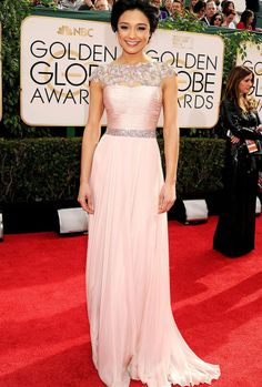 Elegant 2014 Golden globe dress
