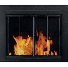 Pleasant Hearth Fireplace Glass Door Black Finish Ascot Small Surface Mount New. clear tempered glass doors open 180 for a full view of fireplace. Fireplace Opening Height (In. Fireplace Opening Width (In. Fireplace Glass Doors, Fireplace Screens, Fireplace Hearth, Fireplace Inserts, Fireplace Design, Fireplace Cover, Small Fireplace, White Fireplace, Fireplace Ideas