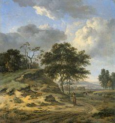 Jan Wijnants - Landschap met twee jagers - Jan Wijnants - Wikipedia
