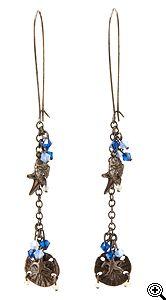 Jewelry Making Idea: Sea Treasures Earrings (eebeads.com)