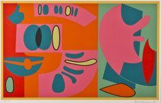 Sam Vanni: Serigrafia, 1953, 45 x 68 cm. Hagelstam.