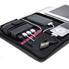 porta gadgets com sistema de recarga