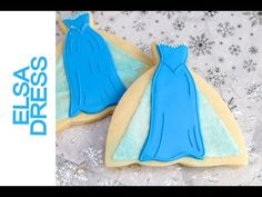I made Frozen Movie Elsa Dress Cookies. In this video I show you how to create a beautiful dress cookies inspired by The Queen Elsa Dress. Enjoy. I love to b...