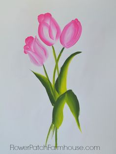 Pamela Groppe's discussion on Hometalk. Learn to Paint Tulips - learn to paint tulips, fast and easy. Great for Spring decorating!
