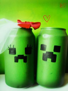 Creeper cans, Minecraft