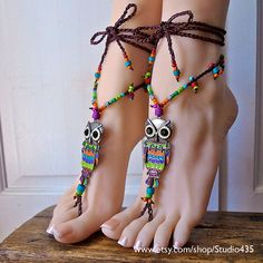 NO.4  Rainbow OWL Hippie Summer Gypsy Bohemian by Studio435, $85.00