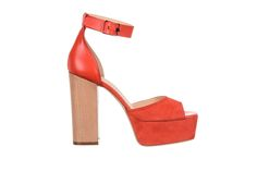coral leather and suede sandal - fiorifrancesi