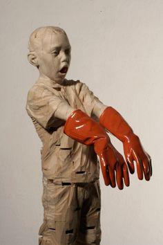 Gehard Demetz - Contemporary Artist - Wood Sculpture - Idea 2006 - Everything he lied was true. ART - Gehard Demetz✖️More Pins Like This One At FOSTERGINGER @ Pinterest✖️