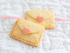 Envelope cookies sealed with a heart!
