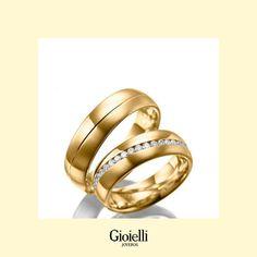 Argolla de matrimonio mateadas con circones en Oro 18k Wedding Rings, Engagement Rings, Jewelry, Jewel Box, Enagement Rings, Jewlery, Jewerly, Schmuck, Jewels