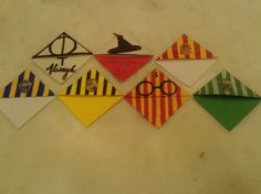 My geeky Harry Potter stuff École Harry Potter, Harry Potter Fiesta, Classe Harry Potter, Harry Potter Birthday, Harry Potter Bookmark, Pixel Art Objet, Diy Bookmarks, Corner Bookmarks, Fun Crafts