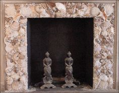 oyster shell fireplace surround - Google Search