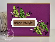 Card by PS DT Teri Anderson using PS Natural Beauties stamps/dies, Bookplates dies, Sentiment Sampler
