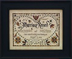 Marta Urban - Pennsylvania German Fraktur - Marriage Fraktur